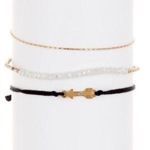Loren Olivia Set of 3 14kgp Bracelets NWT